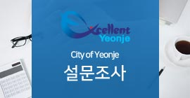 Excellent Yeonje City of Yeonje설문조사